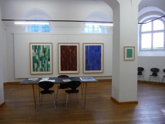 Ausstellung von Helmut Dirnaichner mit dem Titel Malachit, Zinnober, Lapislazuli, Kunst und Kultur zu Hohenaschau e.V., Aschau im Chiemgau 2014
