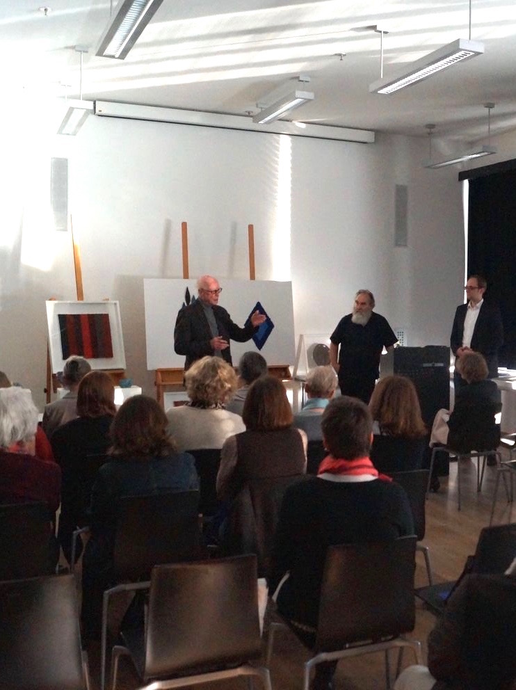 Auf Einladung des Museums Kulturspeicher Würzburg zusammen mit dem Freundeskreis Kulturspeicher e.V. sprach Helmut Dirnaichner am 28.4.2016 über seine Werke.