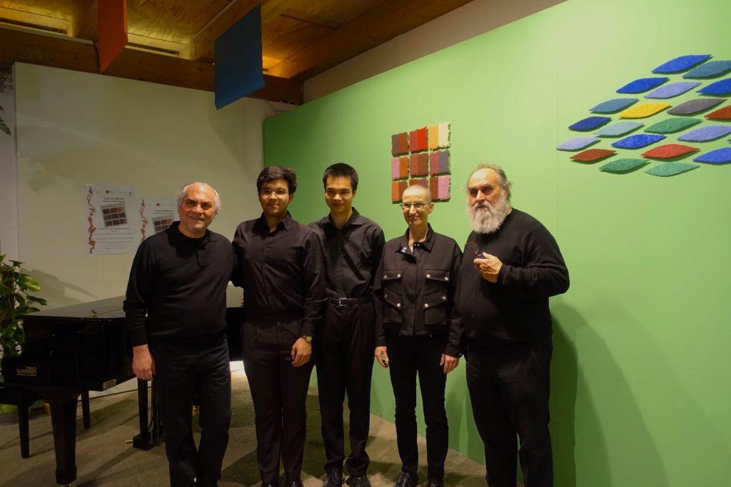 Mit einem Konzert der Musiker Severin Schmid, Zeno Schmid und Nikola Lutz werden neue Kompositionen von Biagio Putignano und seine CD Lob der Musik im Europäischen Künstlerhaus Schafhof in Freising vorgestellt, begleitet von Werken von Helmut Dirnaichner.