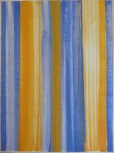 Lapislazuli ist ein Aquarell von Helmut Dirnaichner aus dem Jahr 2001, präsentiert von Galerie Renate Bender auf der Art Karlsruhe 2020