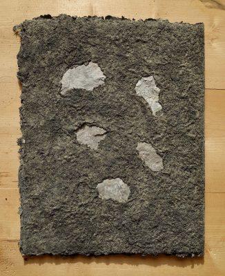 Fränkische Trias ist ein Künstlerbuch von Helmut Dirnaichner aus dem Jahr 2020, mit Steinen aus Gambach am Main und vom Schwanberg bei Iphofen, zusammen mit Zellulose geschöpft
